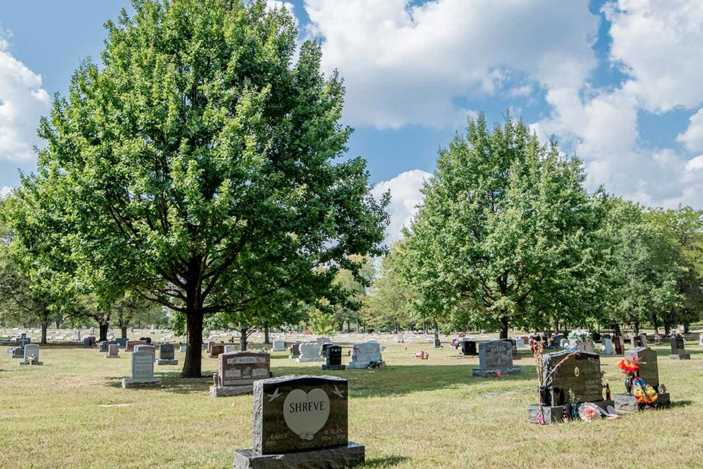 An Indianapolis cemetery part of Washington Park Cemetery Association
